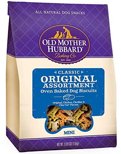 Old Mother Hubbard Classic Original Assortment Biscuits Baked Dog Treats, Mini, 3 lb 13 Ounce Bag