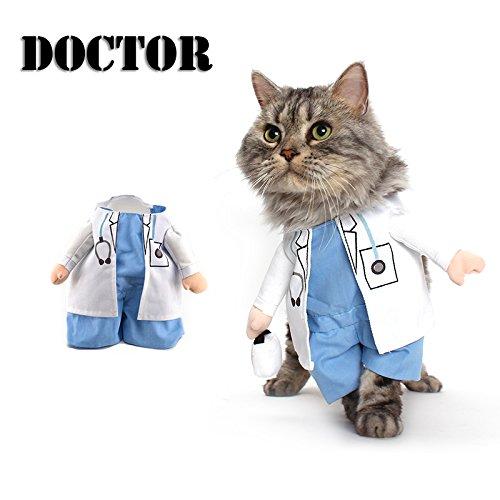 Delifur Halloween Dog Doctor Costume