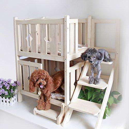 Petsfit Double-Decker Solid Wood Pet Bed
