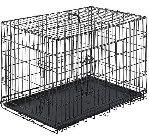 BestPet Double Door Folding Crate
